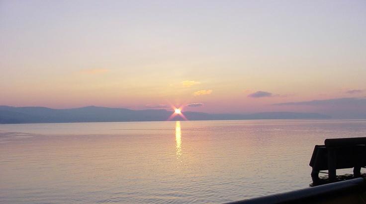 Francois Lake sunset