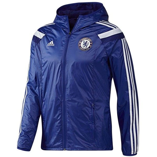 Adidas Chelsea FC Anthem Home Jacket (€45) ❤ liked on Polyvore featuring men's fashion, men's clothing, men's activewear, men's activewear jackets, chelsea blue and mens activewear