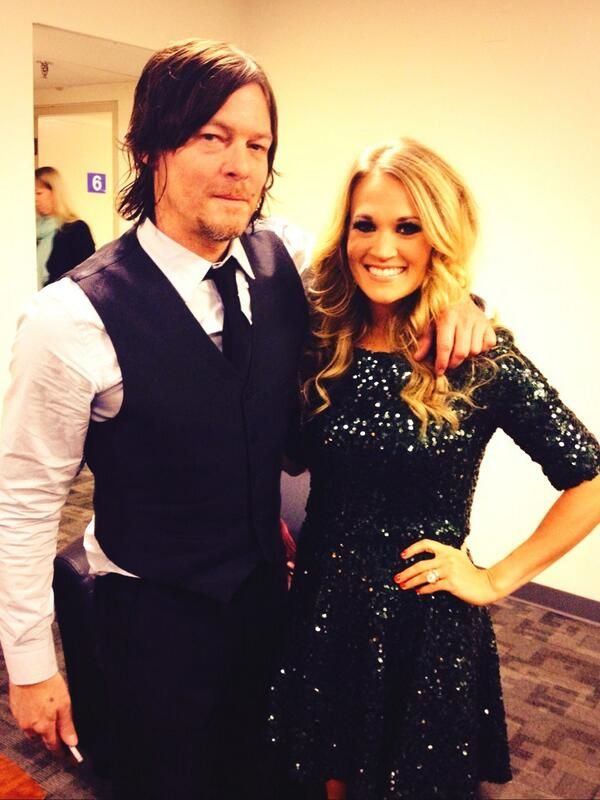 Carrie with Norman Reedus at marti gras!!! She must have been freaking out!