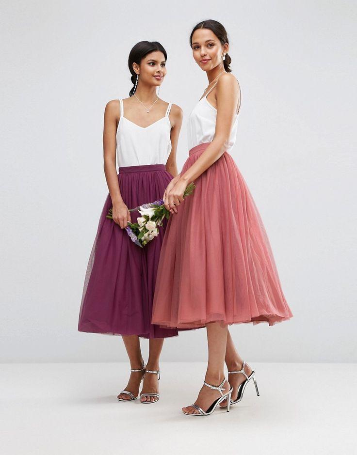 Bild 3 von ASOS WEDDING – Mehrlagiger Ballrock aus Tüll