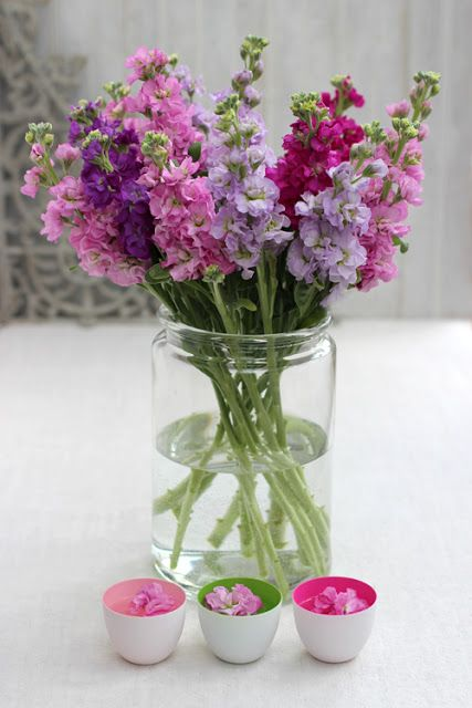 Creative with Flowers-# 5-Pink and Purple Stocks Flowers-Ingrid Henningsson-Of Spring and Summer