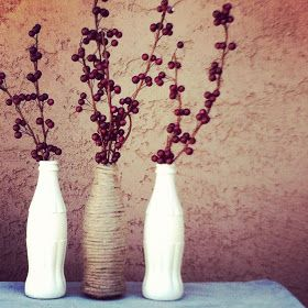 Love when people use common products in unexpected ways: Latest Projects w/ Coke Bottles!!! How elegant!!!