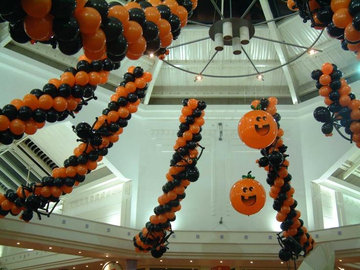 Halloween decor for Meadow Lane shopping centre, Magheraflet, Northern Ireland.
