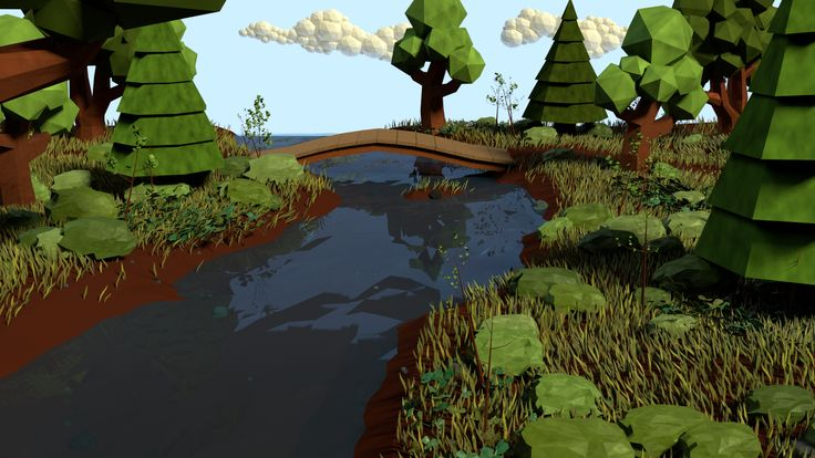 Low Poly Forest Scene by Obsidianmoon13