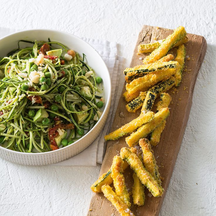 Add colour and flavour to your meal with this Zucchini Spiral Salad