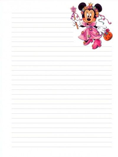 Minnie Mouse Halloween Stationary Letter Pad Printable