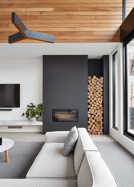 These 15 beautiful modern fireplace designs are so…