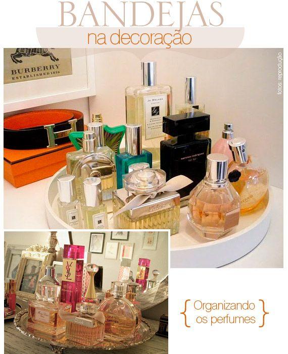 bandejas para organizar perfumes
