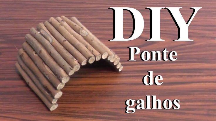 DIY: Brinquedos para Hamster -Ponte de Galhos- ( DIY Hamster Toys -Woode...
