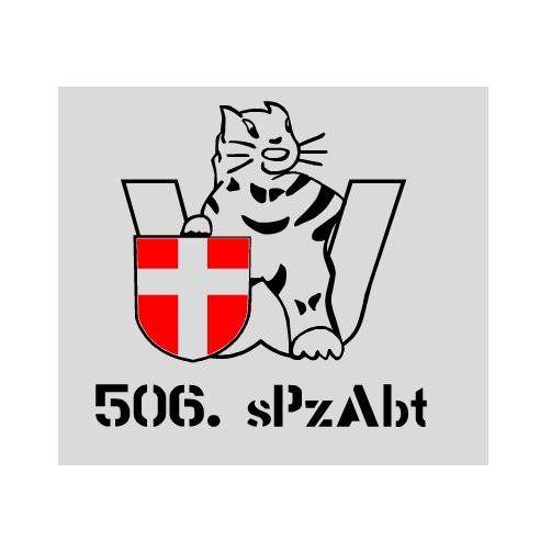 Aufkleber 506. sPzAbt / mehr Infos auf: www.Guntia-Militaria-Shop.de