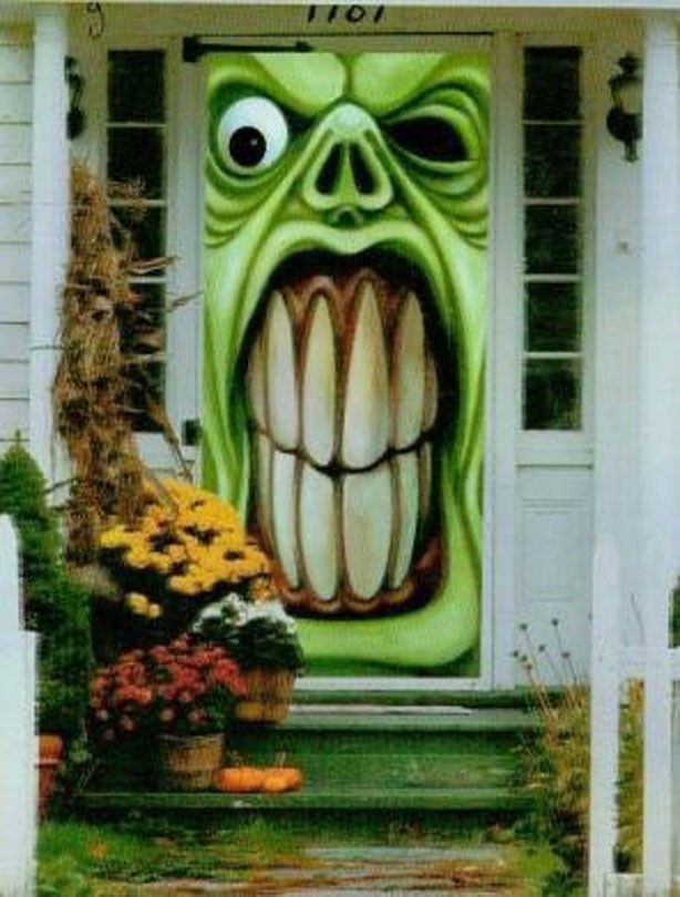 25+ best ideas about Monster Door on Pinterest  Www  ~ 111043_Halloween Zaag Door Hoofd
