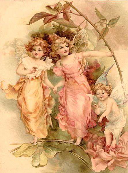 vintage pink faries: Angel, Victorian Fairies, Printable, Vintage Fairies, Clipart, Clip Art, Fairies Postcards, Faerie, Vintage Image