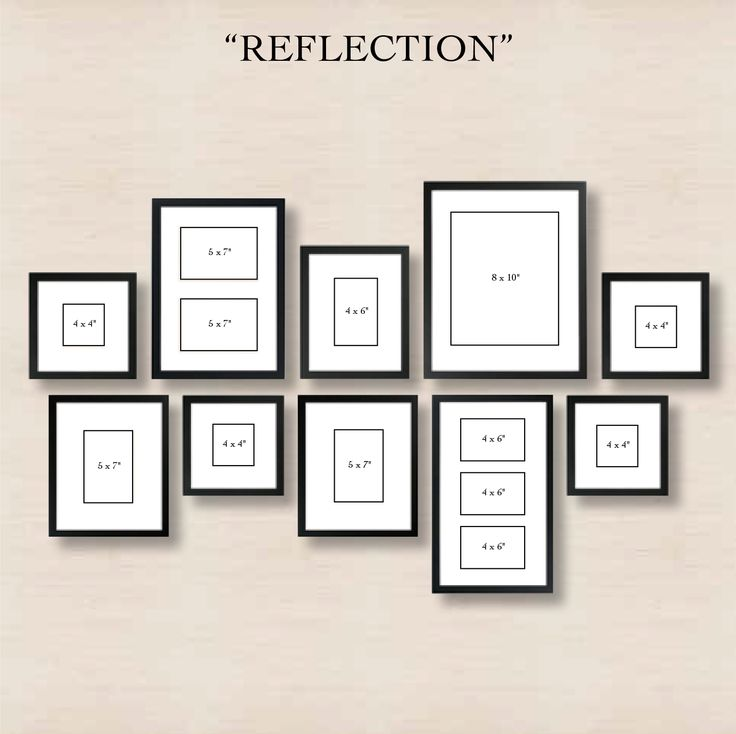 6 Ways to Set Up a Gallery Wall 4) Reflection: Create order out of chaos with this arrangement!