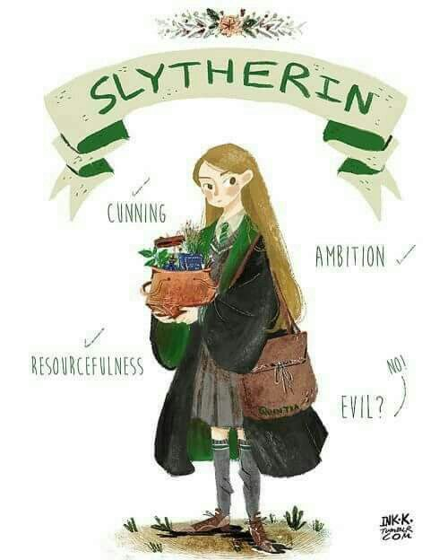 I love this! It shows that we are resourceful and ambitious but not all Slytherins are evil!