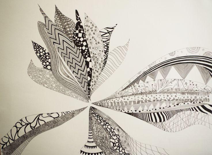 Flower_Ink pen - By Artist Jack.
