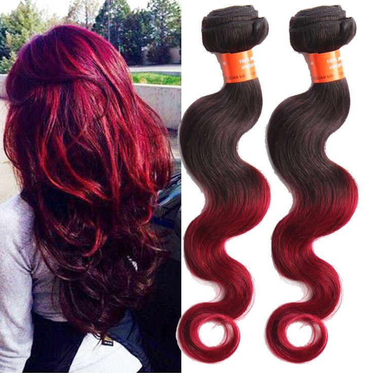 1B BUG Ombre 100% Brazilian Human Hair Extension Körperwelle Haar Schuss 50g/pcs