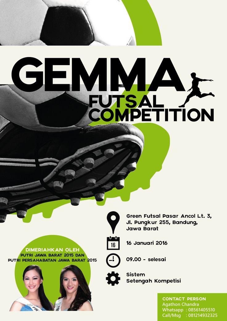 Gemma Futsal Sport Competition 2015 Poster Design