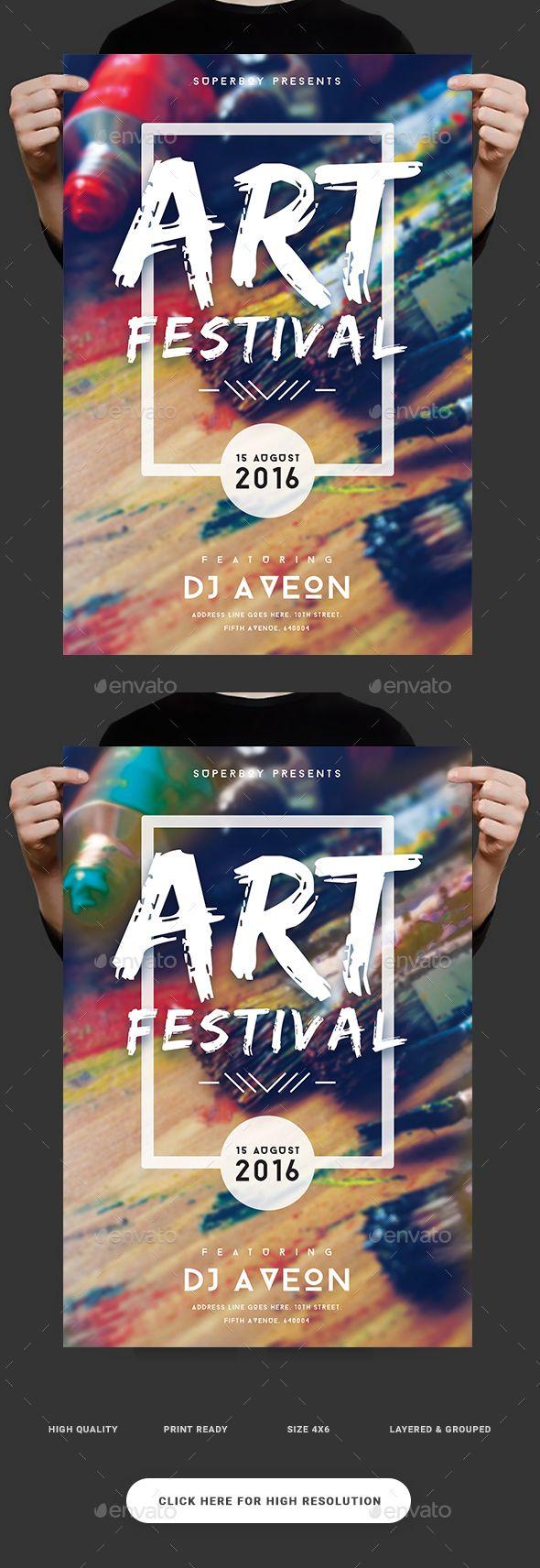 Poster design download - Art Festival Flyer Event Poster Designevent