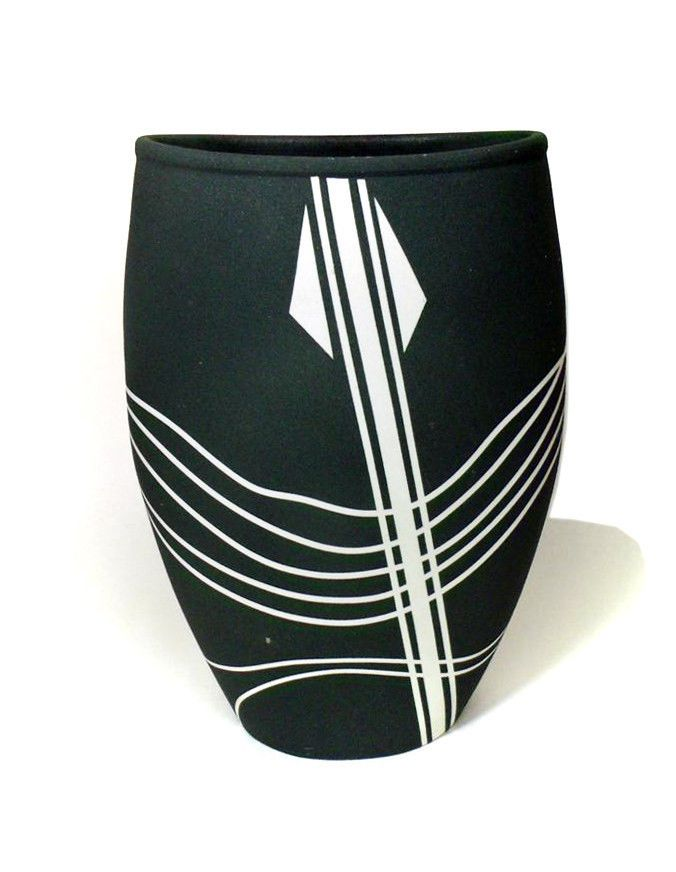 BARRY CRUTCHFIELD vintage studio pottery vase mcm Washington NW * free US ship