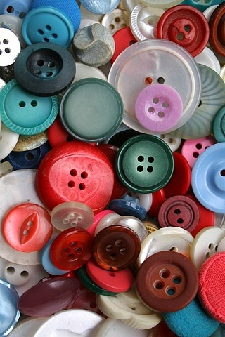 Buttons as Earring Holders