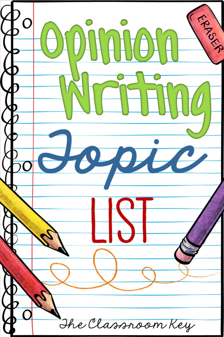 opinion writing topics, lots of grear ideas that will get your students excited about opinion writing