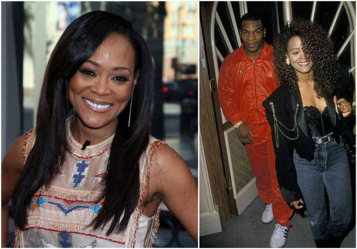 Mike Tyson's then-wife Robin Givens