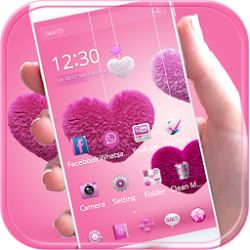 Free Download Fluffy love Theme Pink heart 1.1.6 APK - https://www.apkfun.download/free-download-fluffy-love-theme-pink-heart-1-1-6-apk.html