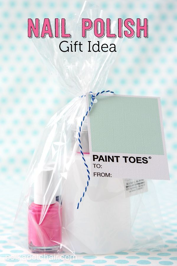 nail polish gift ideas and free printable gift tags. Black Bedroom Furniture Sets. Home Design Ideas