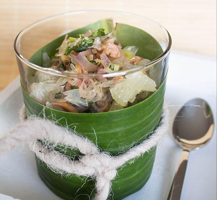 Thailights: Fischküchlein, Pomelosalat, Grünes Curry mit Huhn