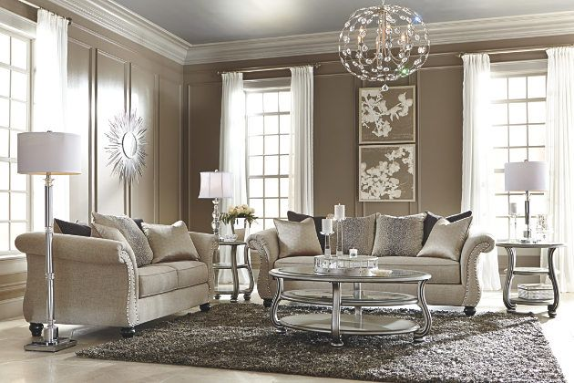 Silver Finish Coralayne Coffee Table View 4 Ashley furniture home store