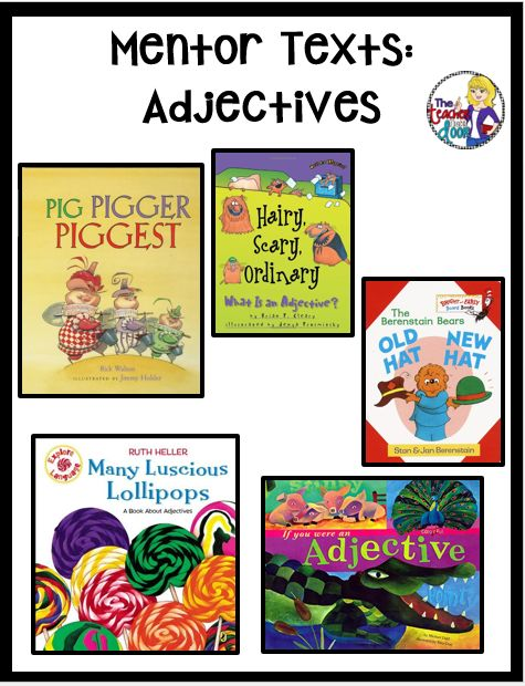 This post has lots of book lists with picture books (mentor texts) that are just right for teaching parts of speech, an important part of grammar lessons in the classroom.
