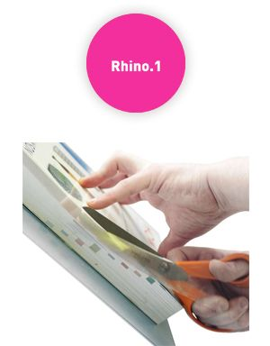 Rhino Book Covers - Easy to use! www.rycobookcovers.com