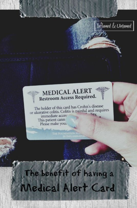 Should you carry a Medical Alert/Restroom Access card if you have Crohn's disease or ulcerative colitis?