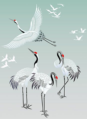 All Japanese Cranes Stencil Theme Pack