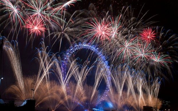 #fireworks #NYE #London Eye New Year's Eve fireworks
