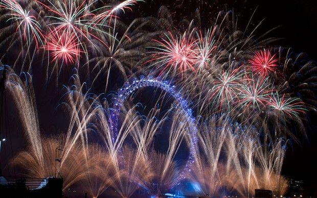 #fireworks #NYE #London Eye New Year's Eve fireworks