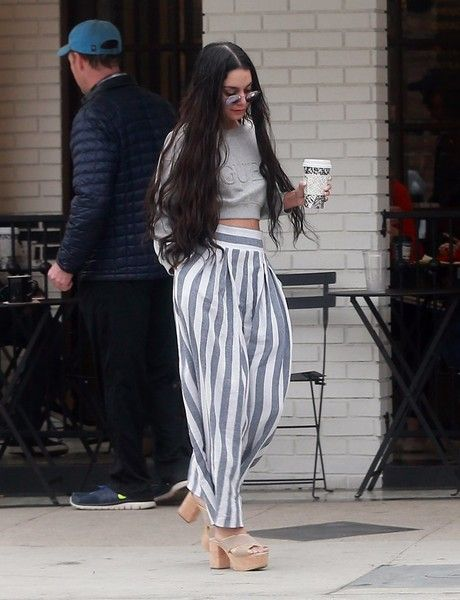 Actress Vanessa Hudgens stops for coffee while out and about in Studio City, California on March 20, 2017. Vanessa has been busy as of late, working on her new NBC comedy 'Powerless.'