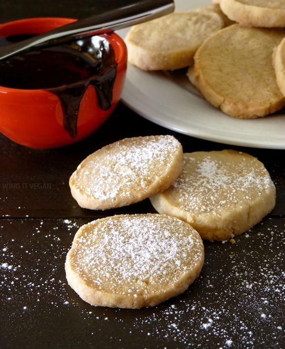 Coconut Oil Shortbread Cookies.   Replace Stevia for the sugar & Almond flour for the flour.
