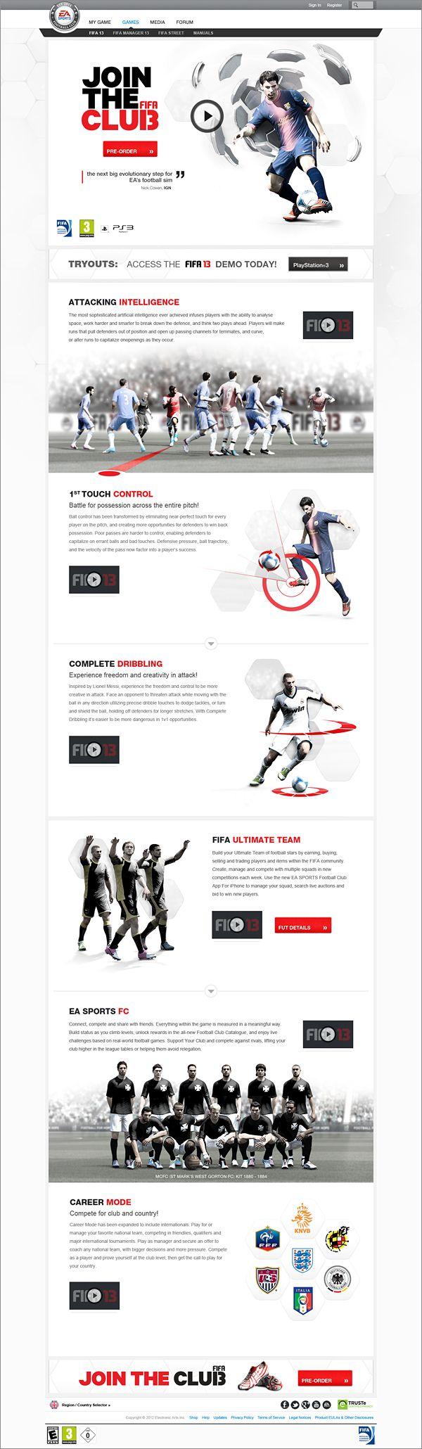 EA SPORTS FIFA 13 by Jonathon Kaye, via Behance