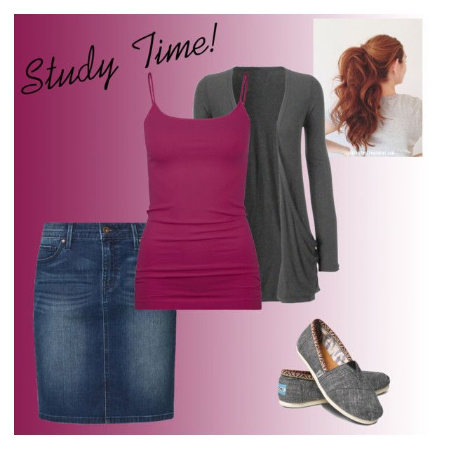 """""""Casual studying outfit"""" by joybells97 ❤ liked on Polyvore featuring Levi's, TOMS and Full Tilt"""