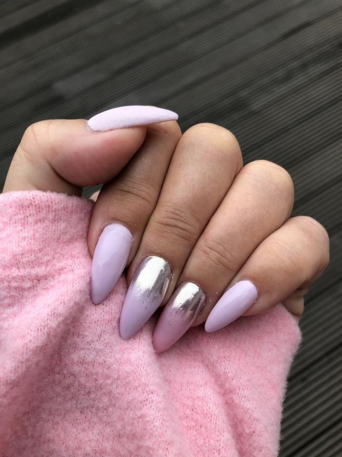 Острая форма ногтей гель лак