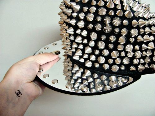 This studded flat-bill hat! So Cool!