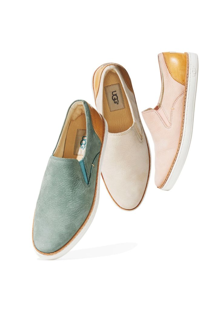 If you have separation anxiety after giving up your comfy winter Uggs, we've got a chic spring antidote: The Southern Californian brand now makes slip-on leather sneakers with a cushy foam footbed. Take two and call us in the morning.