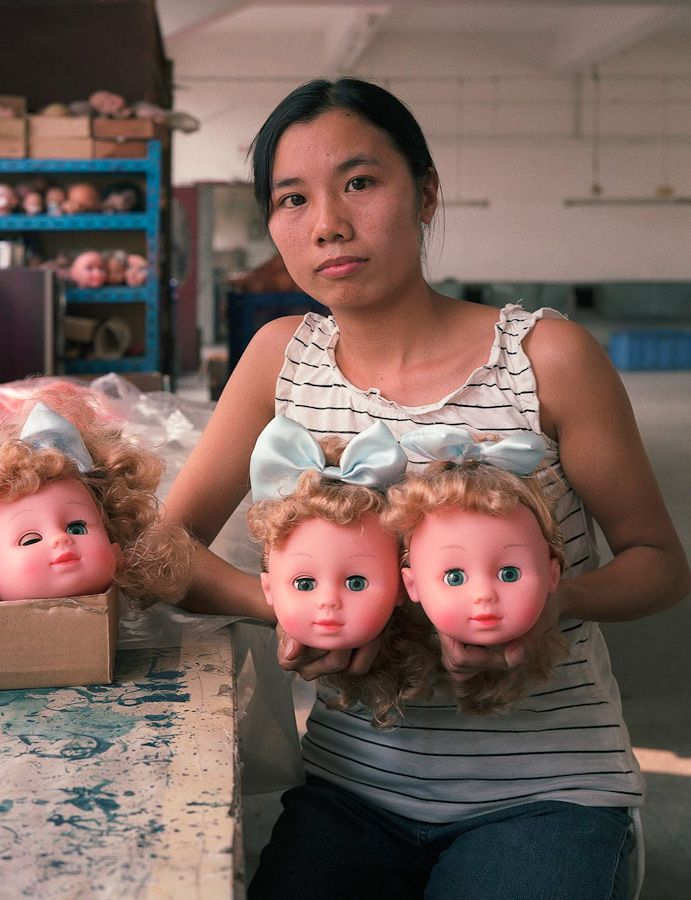 Pictures of Chinese Factory Workers Creating Cheap Toys