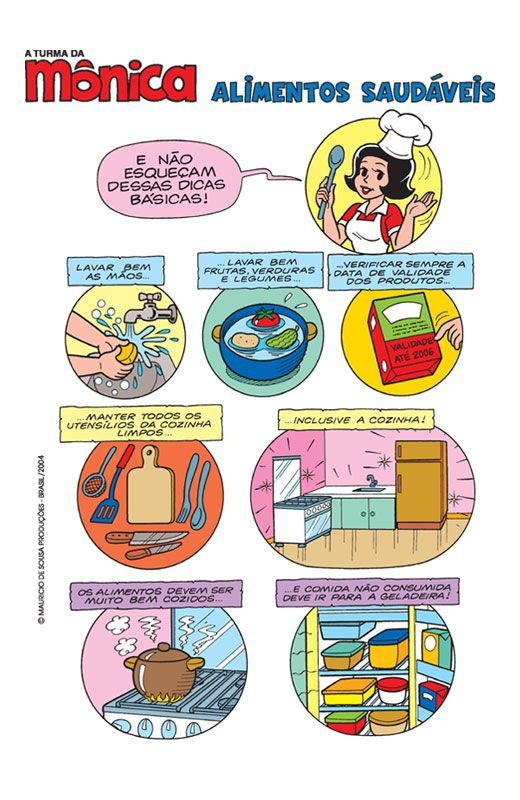 Turma Da Monica Alimentos Saudaveis Alimentacao Saudavel Para