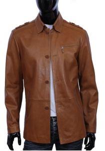 Płaszcz skórzany  męski DORJAN EML710