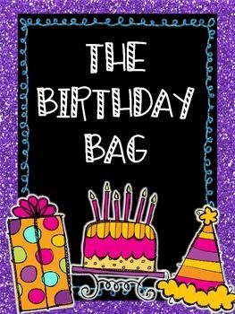 Birthday Bag! {Take-Home} {Editable Pages} {Parent Notes}