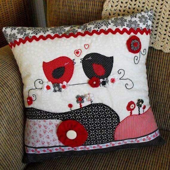 17 best images about cojines y almhoadones on pinterest patchwork applique pillows and - Cojines de patchwork ...