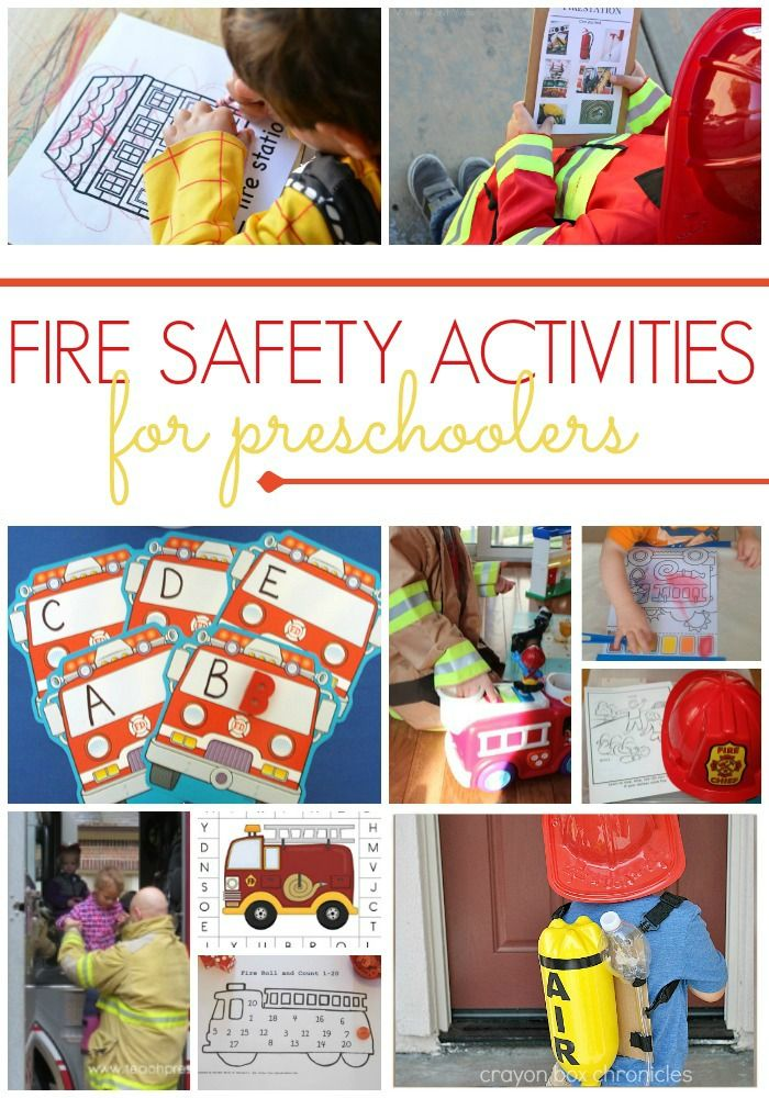 Fire Safety Activities for Preschool and Kindergarten Kids. Teach your kids about fire safety with these fun activities for home or in the classroom.