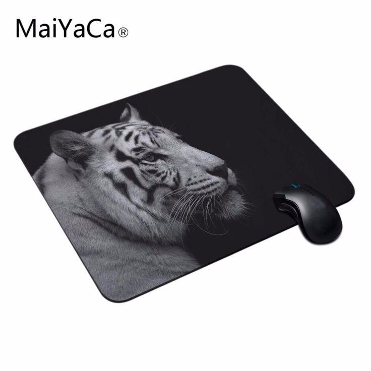 MaiYaCa Wild Animals Jumping Tiger Gaming Mouse Mats Anti-Slip Rectangle Gaming Mice Mat for PC Computer Mouse Pad